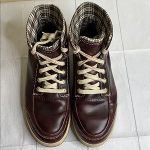 Timberland Boots with Plaid Lining